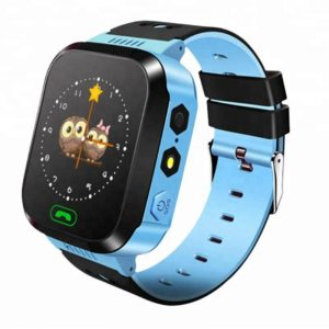 Q528 V2 GPS Smart Watch for kids with Touch Screen & SOS (Blue)-(LBS Tracking)