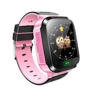 Q528 V2 GPS Smart Watch for kids with Touch Screen & SOS (Pink)-(LBS Tracking)