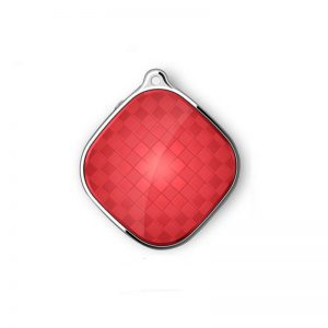 Mini GPS Tracker Pendant with SOS & 2 Way Voice Calling (Red)