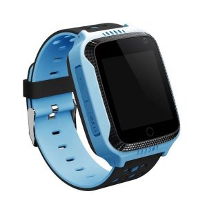 Q529 GPS Smart Watch for kids with Touch Screen & SOS (Blue)-(GPS+LBS Tracking)