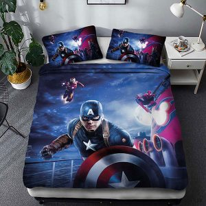 Avengers / Captain America 3D Printed Double Bed Duvet Cover Set