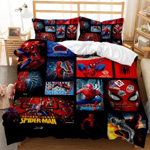 Avengers / Spiderman 3D Printed Double Bed Duvet Cover Set
