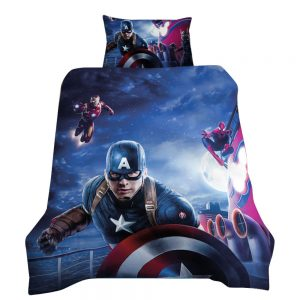 Avengers / Captain America 3D Printed Single Bed Duvet Cover Set
