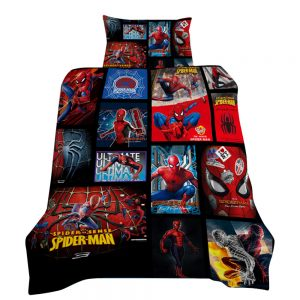 Avengers / Spiderman 3D Printed Single Bed Duvet Cover Set