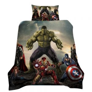 Avengers / HULK 3D Printed Single Bed Duvet Cover Set