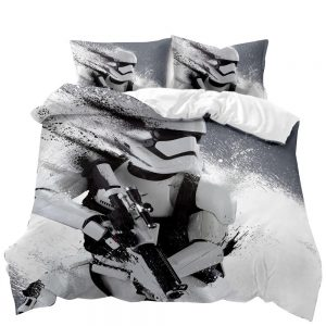 STAR WARS Storm Trooper 3D Printed Double Bed Duvet Cover Set
