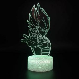 Dragon Ball Z Vegeta RGB Cracked Base Effect Night Light with 7 Color Options