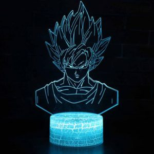 Dragon Ball Z Goku RGB Cracked Base Effect Night Light with 7 Color Options