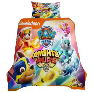 Paw Patrol Mighty Pups 3D Printed Single Bed Duvet Cover Set