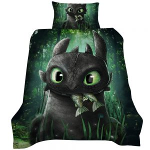 How To Train Your Dragon / Toothless 3D Printed Single Bed Duvet Cover Set