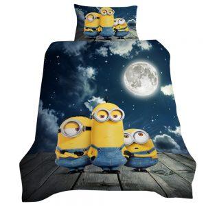 Minions Moonlighting 3D Printed Single Bed Duvet Cover Set