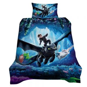 How To Train Your Dragon Onwards 3D Printed Single Bed Duvet Cover Set