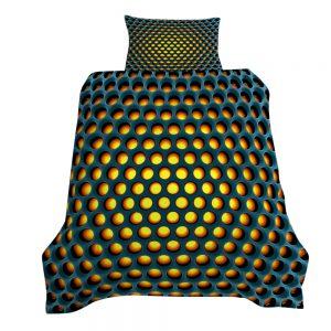 Chromacool 3D Printed Single Bed Duvet Cover Set Yellow